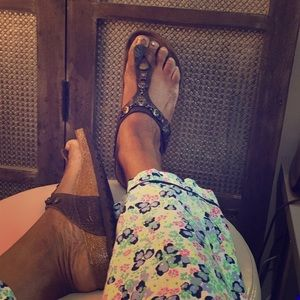 Birkenstock Gizeh Cortina Leather chain sandals 38